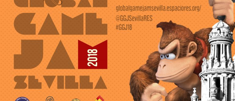 Cartel de la Global game jam sevilla 2018