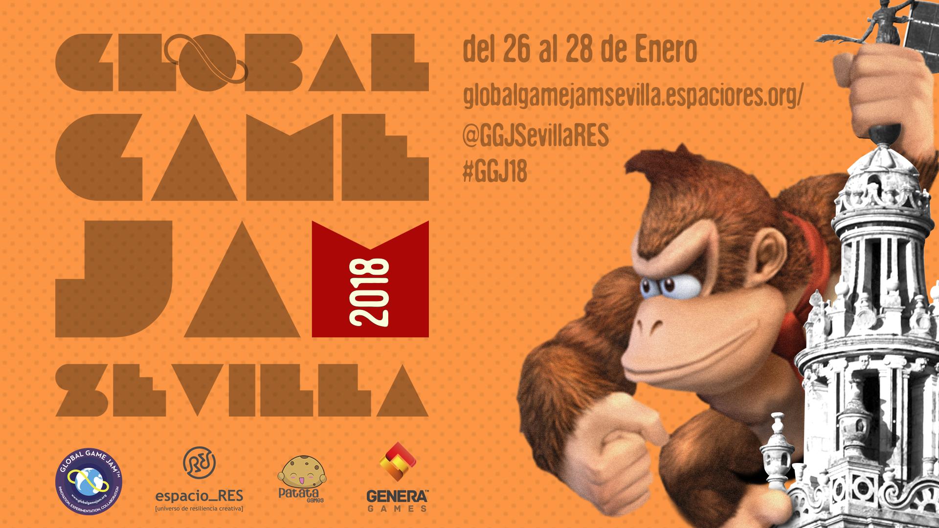 Cartel de la Global game jam sevilla 2018