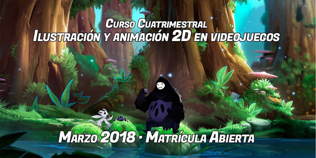 Un fotograma del videojuego Ori and the blind forest protagoniza la portada del curso de ilustración y animación 2D para videojuegos de aula arcade