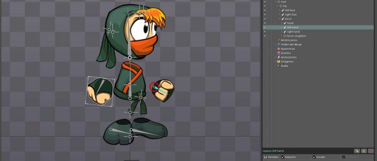 curso animación 2D para videojuegos con spine en sevilla
