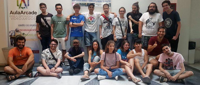 alumnos y alumnas participantes en la AulaArcadejam6 de Sevilla