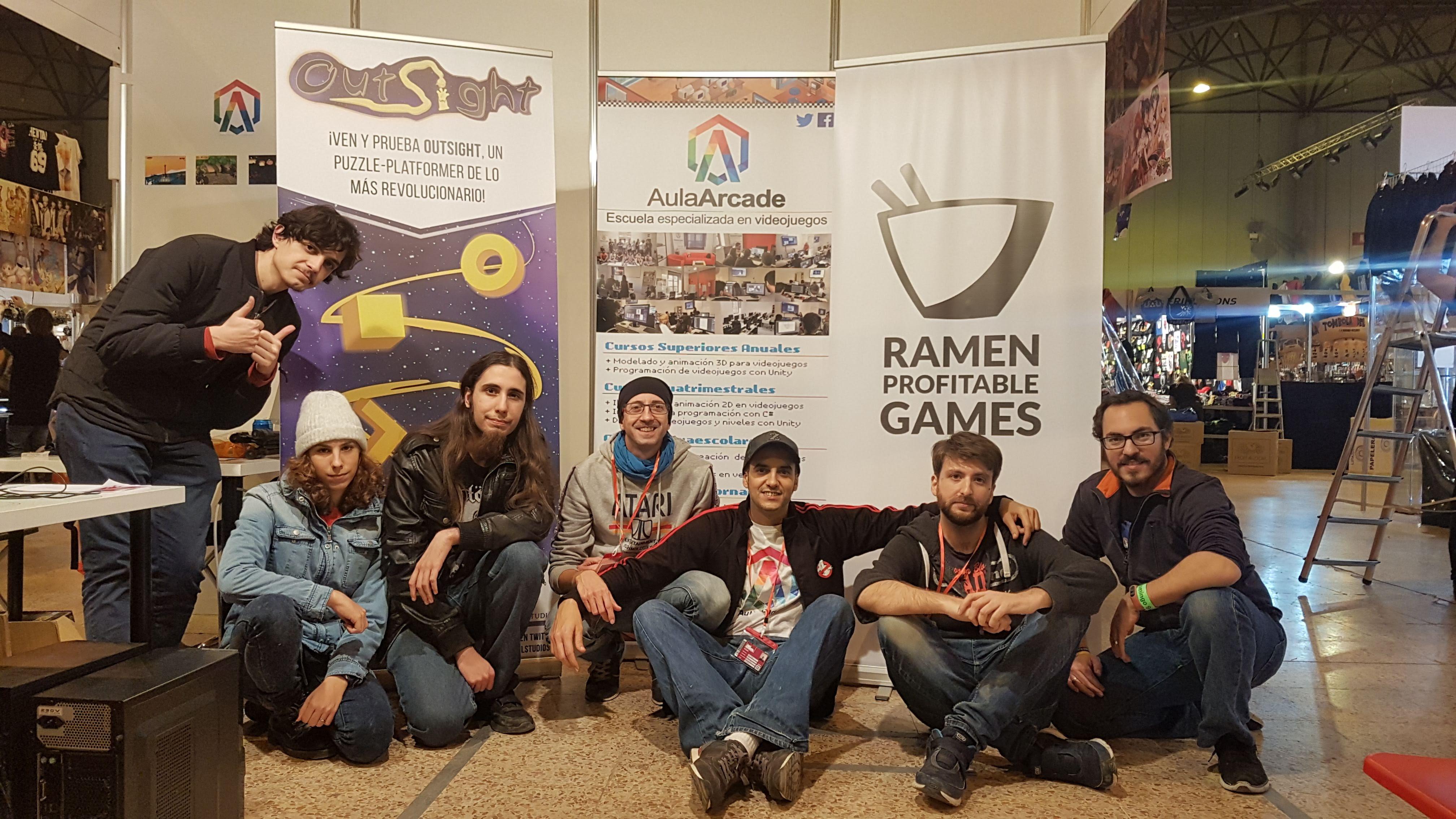 aula arcade nest muestra los juegos project gecko y outsight