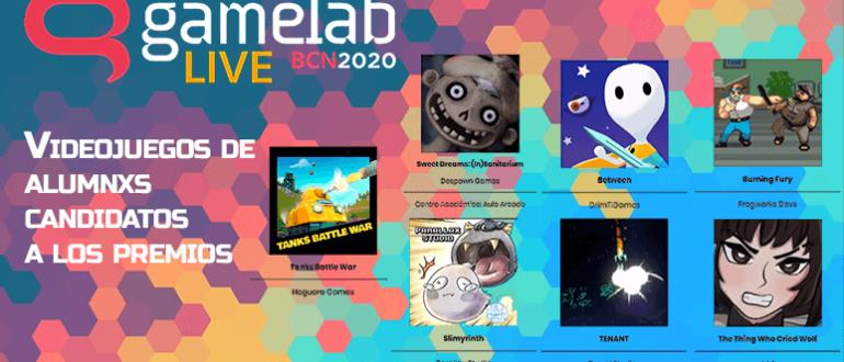 mejores videojeugos de estudiantes. Candidatos aula arcade gamelab 2020. portada articulo blog